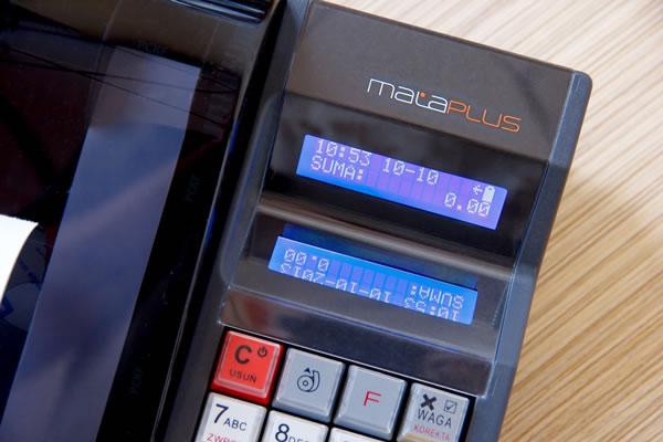 Kasa fiskalna Novitus Mała Plus - 2 przejrzyste i podświetlane wyświetlacze
