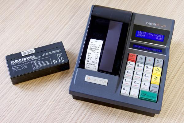Kasa fiskalna Novitus Mała Plus - Wydrukuje do 1 300 potwierdzeń sprzedaży bez zasilania zewnętrznego
