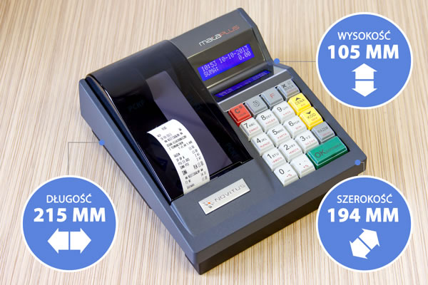 Kasa fiskalna Novitus Mała Plus - Mała Plus jest naprawdę niewielka